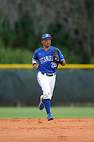 Indiana State Sycamores outfielder Sean Ross (20) during a game against the Chicago State Cougars on February 23, 2020 at North Charlotte Regional Park in Port Charlotte, Florida.  Chicago State defeated Indiana State 3-0.  (Mike Janes/Four Seam Images)