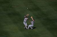 Jason Tyner and Nick Punto. Minnesota Twins vs Oakland Athletics. Oakland, CA 9/21/2005 MANDATORY CREDIT: Brad Mangin