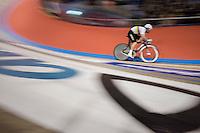 Mark Cavendish (GBR/Dimension Data) speeding around the track<br /> <br /> <br /> 2016 Gent 6<br /> day 4