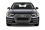 Car photography straight front view of a 2017 Audi A4 Sport 4 Door Sedan Front View