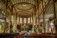 Fort-de-France, Martinique.  Saint Louis Cathedral Interior.