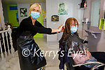 Marie Enright from Cordal Getting the hair done  by Mary Lawlor at Mary L's in Castleisland on Monday.