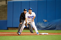 Florida Gators first baseman Keenan Bell (32) during a game against the Siena Saints on February 16, 2018 at Alfred A. McKethan Stadium in Gainesville, Florida.  Florida defeated Siena 7-1.  (Mike Janes/Four Seam Images)