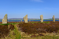 Orkney Islands, Mainland, the Neolithic standing stones of the Ring of Brodgar <br /> Scotland May 8th - 19th. Trip across Scotland<br /> Foto Samantha Zucchi Insidefoto