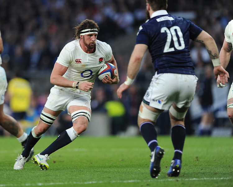 Tom Wood of England in action during the RBS 6 Nations match between England and Scotland at Twickenham Stadium on Saturday 11th March 2017 (Photo by Rob Munro/Stewart Communications)