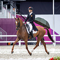 CHN-Alex Hua Tian rides Don Geniro during the Eventing Dressage Team and Individual Day 1 - Session 1. Tokyo 2020 Olympic Games. Friday 30 July 2021. Copyright Photo: Libby Law Photography