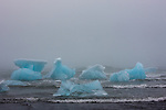 Icebergs in waves, Iceland