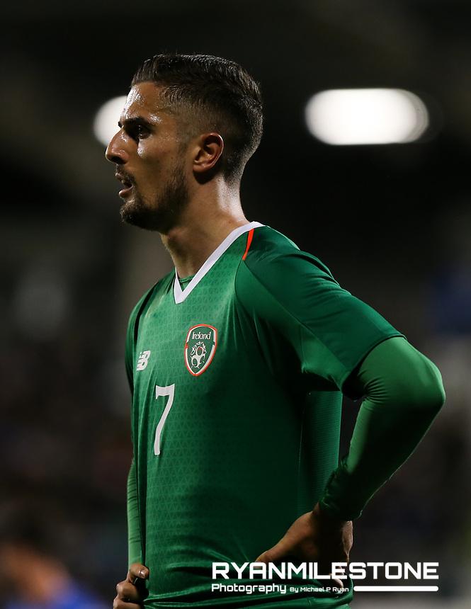 EVENT:<br /> UEFA European U21 Championship Qualifier Group 1 Republic of Ireland v Italy<br /> Thursday 10th October 2019,<br /> Tallaght Stadium, Dublin<br /> <br /> CAPTION:<br /> Zack Elbouzedi of Republic of Ireland<br /> <br /> Photo By: Michael P Ryan