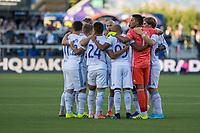 SAN JOSÉ CA - JULY 27: San Jose Earthquakes during a Major League Soccer (MLS) match between the San Jose Earthquakes and the Colorado Rapids on July 27, 2019 at Avaya Stadium in San José, California.