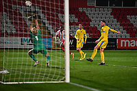 Chris Haigh of Concord Rangers FC makes a great save during Stevenage vs Concord Rangers , Emirates FA Cup Football at the Lamex Stadium on 7th November 2020