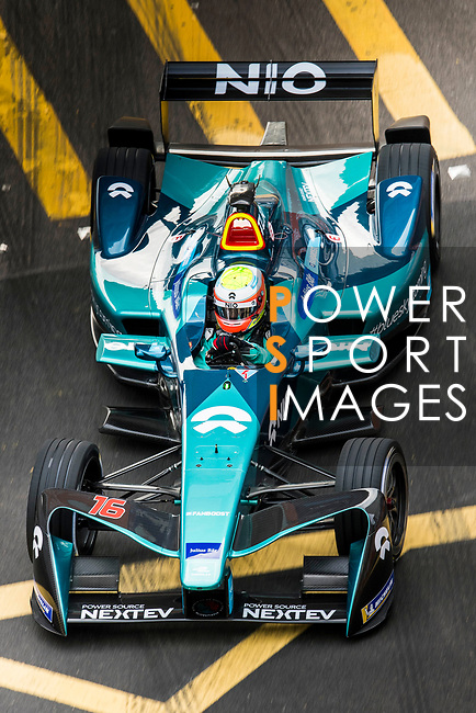 Oliver Turvey of Great Britain from NIO Formula E Team on track at the Formula E Non-Qualifying Practice 3 during the FIA Formula E Hong Kong E-Prix Round 2 at the Central Harbourfront Circuit on 03 December 2017 in Hong Kong, Hong Kong. Photo by Victor Fraile / Power Sport Images