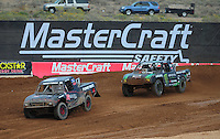 Mar. 19, 2011; Chandler, AZ, USA;  LOORRS pro lite driver Austin Kimbrell leads Cameron Steele during round one at Firebird International Raceway. Mandatory Credit: Mark J. Rebilas-US PRESSWIRE
