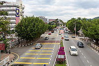 Mid-day Traffic on Jalan Panglima Bukit Gantang Wahab, Ipoh, Malaysia.