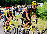2nd July 2021; Le Creusot, France; VAN AERT Wout (BEL) of JUMBO-VISMA and VAN DER POEL Mathieu (NED) of ALPECIN-FENIX during stage 7 of the 108th edition of the 2021 Tour de France cycling race, a stage of 248,1 kms between Vierzon and Le Creusot