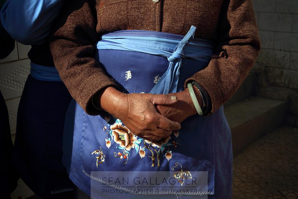 A woman of the Samatao minority in Zijun village.