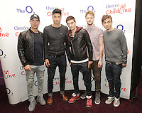 20/11/13<br /> The Wanted, band members (L-R)Max George, Siva Kaneswaran ,Tom Parker, Jay McGuiness and Nathan Sykes and who will be performing Cheerios Childline Concert at the O2 Dublin this evening….<br /> Pic Collins Photos