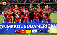 PASTO-COLOMBIA, 26-02-2020: Jugadores de Deportivo Pasto, posan para una foto, antes de durante partido de vuelta entre Deportivo Pasto (COL) y Club Deportivo Huachipato (CHL) por la Copa Conmebol Sudamericana 2020 jugado en el estadio Departamental Libertad de la ciudad de Pasto. / Players of Deportivo Pasto, pose for a photo, prior a match of the second leg between Deportivo Pasto (COL) and Club Deportivo Huachipato (CHL) for the Conmebol Sudamaricana Cup 2020 played at the Departamental Libertad Stadium in Pasto city. / Photo: VizzorImage / Leonardo Castro / Cont.