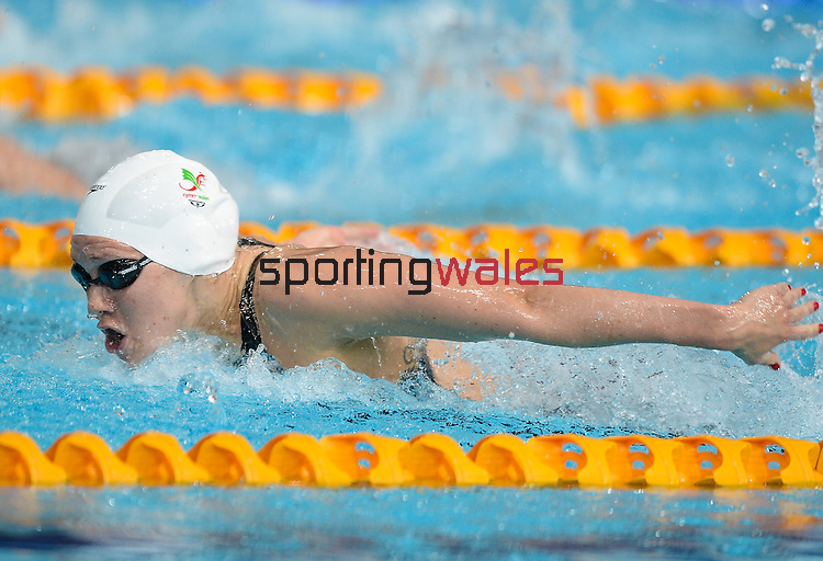 Wales Jemma Lowe in action during todays heats <br /> <br /> Photographer Ian Cook/Sportingwales<br /> <br /> 20th Commonwealth Games - Swimming -  Day 4 - Monday 28th July 2014 - Glasgow - UK