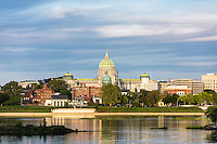 City skyline and Susquehanna River, Harrisburg, Pennsylvania, USA