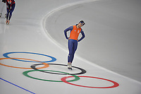 OLYMPIC GAMES: PYEONGCHANG: 17-02-2018, Gangneung Oval, Long Track, Training session, Kai Verbij (NED), ©photo Martin de Jong