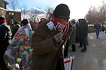 Hershey, PA, USA - Dec. 15, 2016; Supporters wait outside in freezing temperatures before entering a post-election Thank You Tour 2016 rally organized by President-Elect Donald Trump and Vice-President-Elect Mike Pence, at the Giant Center in Hershey, PA.