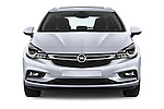 Car photography straight front view of a 2016 Opel Astra Innovation 5 Door Wagon Front View