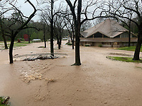 Photo by Jason Wilkie/Camp Siloam<br /> Flash flooding led to rising waters at Camp Siloam in Siloam Springs