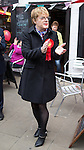 © Joel Goodman - 07973 332324 . 17/04/2015 . Chester , UK . EDDIE IZZARD joins Labour candidate Chris Matheson , campaigning in the City of Chester constituency . Photo credit : Joel Goodman