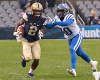 Pitt wide receiver Maurice Ffrench (2). The Pitt Panthers football team defeated the Duke Blue Devils 54-45 on November 10, 2018 at Heinz Field, Pittsburgh, Pennsylvania.