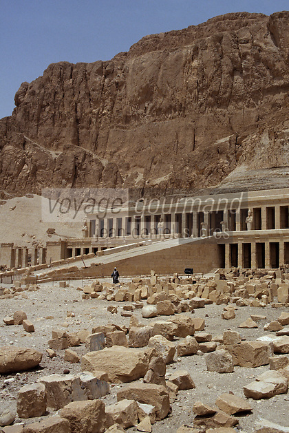 Afrique/Egypte/Louxor/Ancienne Thèbes: Temple d'Hatshepsout à Deir El Bahari