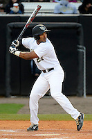 Central Florida Knights outfielder Jeramy Matos #27 during a game against the Siena Saints at Jay Bergman Field on February 16, 2013 in Orlando, Florida.  Siena defeated UCF 7-4.  (Mike Janes/Four Seam Images)