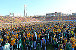 North Dakota State Bison fans take over the field after the FCS Championship game between the North Dakota State Bison and the Sam Houston State Bearkats at the FC Dallas Stadium in Frisco, Texas. North Dakota defeats Sam Houston 39 to 13..