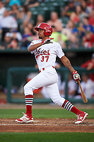 Peoria Chiefs shortstop Edmundo Sosa (37) at bat during a game against the Dayton Dragons on May 6, 2016 at Dozer Park in Peoria, Illinois.  Peoria defeated Dayton 5-0.  (Mike Janes/Four Seam Images)