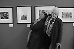 Lucy Bell gallery owner with Homer Sykes at The Lucy Bell Gallery, St Leonards-on-Sea exhibition Once a Year. Vintage prints on show May-26 June 2021<br /> Photo copyright Bob Mazzer