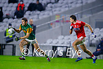 Gavin White, Kerry in action against Mark Collins, Cork, during the Munster GAA Football Senior Championship Semi-Final match between Cork and Kerry at Páirc Uí Chaoimh in Cork.