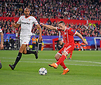 03.04.2018, Football UEFA Champions League 2017/2018,   FC Sevilla - FC Bayern Muenchen, stadium Ramon Sanchez Pizjuan, Sevilla (spain). re: Franck Ribery (FC Bayern Muenchen)  -  Clement Lenglet (FC Sevilla)  *** Local Caption *** © pixathlon<br /> <br /> Contact: +49-40-22 63 02 60 , info@pixathlon.de