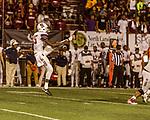 September 21, 2017. Durham, North Carolina.<br /> <br /> South Carolina State punter Cliff Benjamin kicks the balls downfield. <br /> <br /> The NCCU Eagles won a home game against the the South Carolina State Bulldogs 33-28 at O'Kelly–Riddick Stadium.