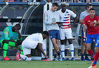 CARSON, CA - FEBRUARY 1: Gyasi Zardes #9 of the United States prepares to enter the field during a game between Costa Rica and USMNT at Dignity Health Sports Park on February 1, 2020 in Carson, California.