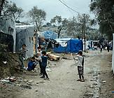 Flüchtlingslager Moria auf Lesbos. Flüchtlinge sitzen in Griechenland fest. / Refugees stuck in Greece.