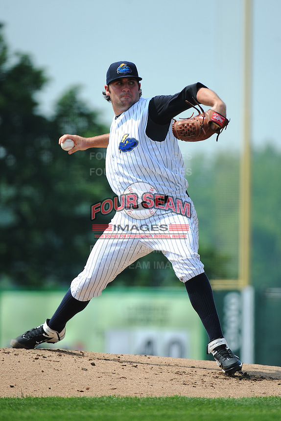 Trenton Thunder pitcher Zach Nuding (56) during game against the Erie SeaWolves at ARM & HAMMER Park on May 29 2013 in Trenton, NJ.  Trenton defeated Erie 3-1.  Tomasso DeRosa/Four Seam Images