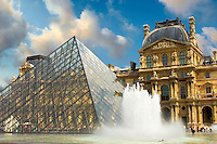 The Pyramid entrance of the Louvre - Paris