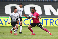 1st May 2021; Liberty Stadium, Swansea, Glamorgan, Wales; English Football League Championship Football, Swansea City versus Derby County; Colin Kazim-Richards of Derby County controls the ball with his chest