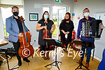 Mary Coughlan with her band members as they perform at the Aspree Nursing Home in Camp on Monday. L to r: Gerald Peregrine, Lynda O'Connor. Mary Coughlan and Dermot Dunne.