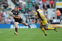 Alex Goode of Saracens in full flight during the Aviva Premiership Rugby match between Saracens and Worcester Warriors at Twickenham Stadium on Saturday 03 September 2016 (Photo by Rob Munro/Stewart Communications)