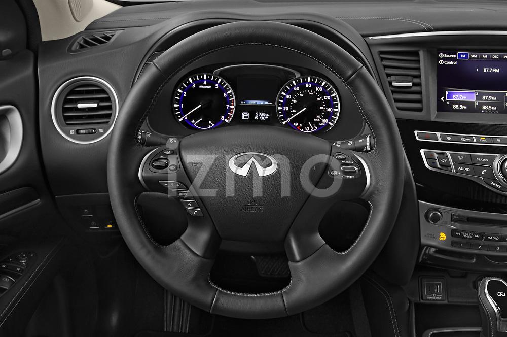 Car pictures of steering wheel view of a 2020 Infiniti QX60 Pure 5 Door SUV Steering Wheel