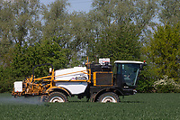 29-2-2021 Spraying Winter Wheat at growth stage T2<br /> ©Tim Scrivener Photographer 07850 303986<br />      ....Covering Agriculture In The UK....