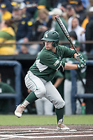 Michigan State Spartans second baseman Dan Durkin (9) at bat against the Michigan Wolverines on May 19, 2017 at Ray Fisher Stadium in Ann Arbor, Michigan. Michigan defeated Michigan State 11-6. (Andrew Woolley/Four Seam Images)