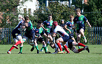 Saturday 26th September 2020 | Malone vs Ballynahinch<br /> <br /> Zac Ward on the attack for Ballynahinch during the Ulster Senior League fixture between Malone and Ballynahinch at Gibson Park, Belfast, Northern Ireland. Photo by John Dickson / Dicksondigital