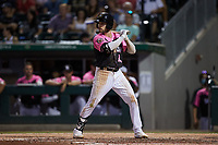 Luis Gonzalez (2) of the Charlotte Knights at bat against the Gwinnett Stripers at Truist Field on July 17, 2021 in Charlotte, North Carolina. (Brian Westerholt/Four Seam Images)