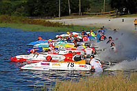 #78 starts from pole   (outboard hydroplane)